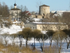 Photos of towers in Pskov city